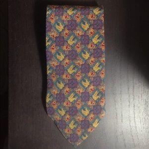 Christian Dior Monsieur Vintage Floral Pattern Tie